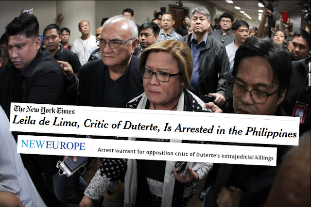 DLSU prof slams int'l media: De Lima was not arrested for being Duterte critic but for coddling drug lords