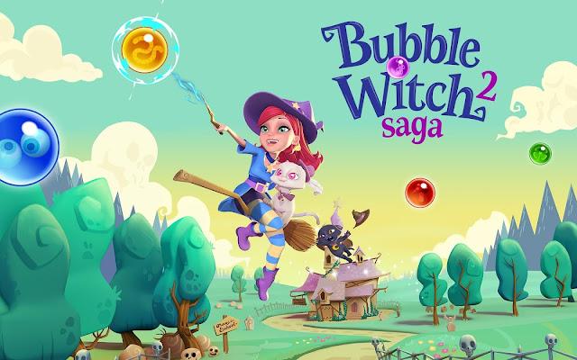 تحميل لعبة الساحرة الجديدة bubble witch saga 2 لعبة الكرات الملونة للكمبيوتر والموبايل الاندرويد