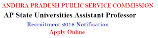 APPSC Assistant Professor Recruitment 2020 Notification Apply Online at psc.ap.gov.in