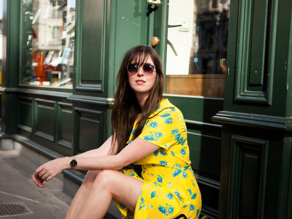 Outfit: perfect vintage yellow dress