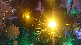 Yellow LED Christmas tree lights