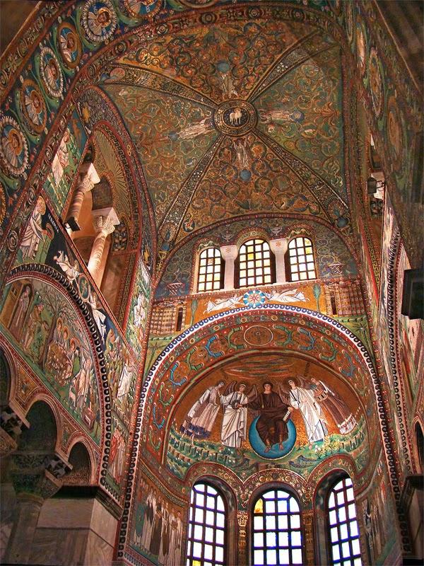 الفن البيزنطي الرومي الفن الرومي رسوم الفريسك السقفية والجدارية في آجيا صوفيا وكل الكنائس الارثوذكسية