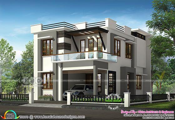 1450 square feet 3 bedroom modern house design