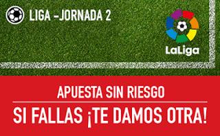sportium Promocion Apuesta Sin Riesgo jornada 2 Liga 27-28 agosto