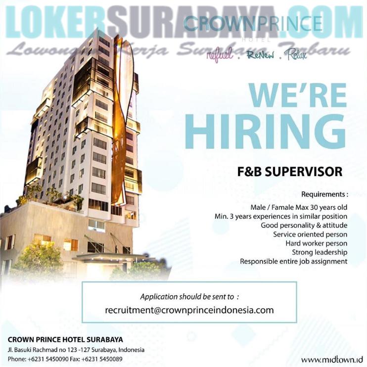 Job Vacancy Hotel Surabaya 2019