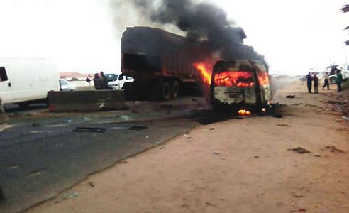 4 burnt to death lagos ibadan expressway