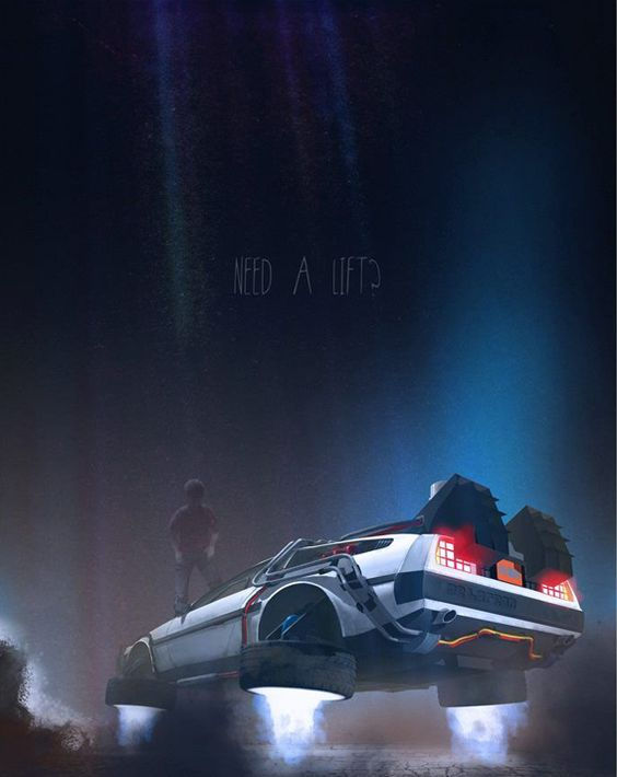 Back to the Future De Lorean by Nicolas Bannister