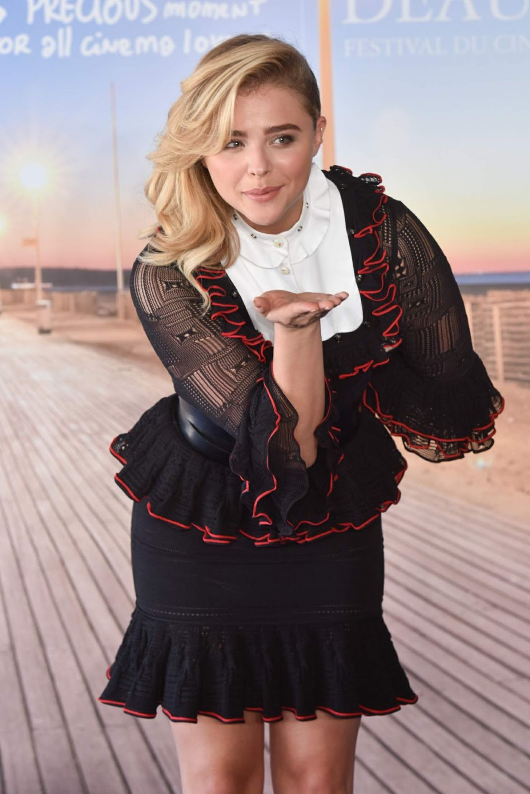Full HD Photos of Chloe Moretz At Paying Homage Photocall At 42nd Deauville American Film Festival