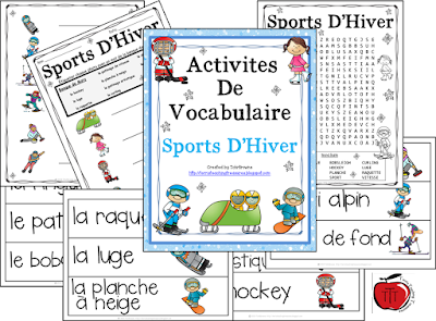 https://www.teacherspayteachers.com/Product/French-Vocabulary-Activities-Winter-Sports-1038574