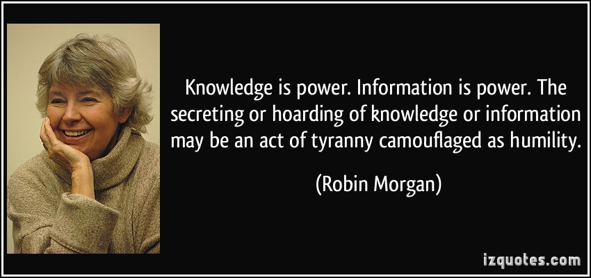 INFORMATION IS POWER : ULTIMATE QUOTES