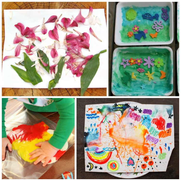 Spring Process Art What Can We Do With Paper And Glue