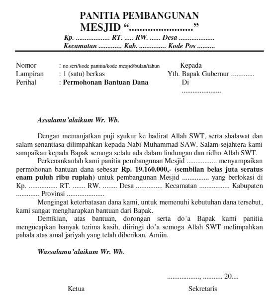 Doc Proposal Permohonan Bantuan Dana Pembangunan Masjid Al Istiqomah Engkus Kustiawan Academia Edu