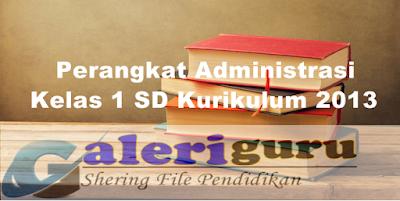 Perangkat Administrasi Kelas 1 SD Kurikulum 2013 - Galeri Guru