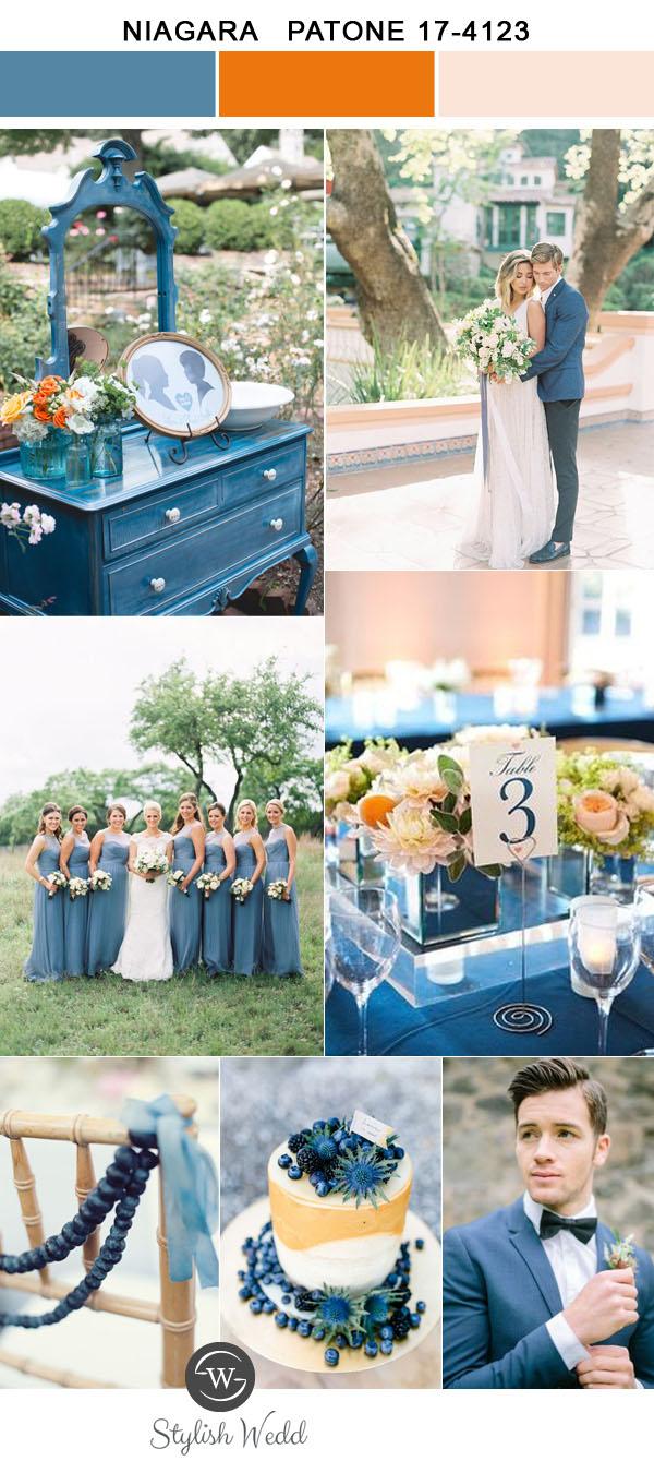 Kolor na Ślub i Wesele, Kolory ślubne 2017, Kolory ślubów i wesel 2017, Modne kolory 2017, Ślub i Wesele w Kolorze niebieskim niagara, Trendy Ślubne 2017,