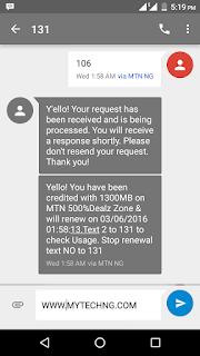 MTN Finally Unveils Another 1.5GB for N1000 Data Package price in nigeria