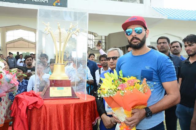 Yuvraj Singh with the trophy