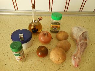 ingredientes para cordero asado