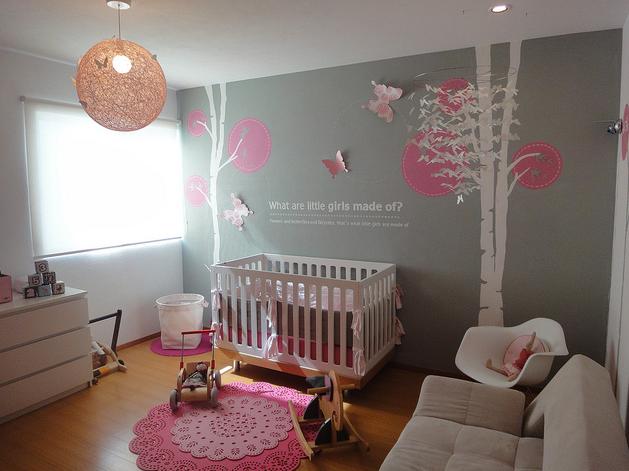 Baby Girl Nursery Wall Decor Ideas Baby Interior Design