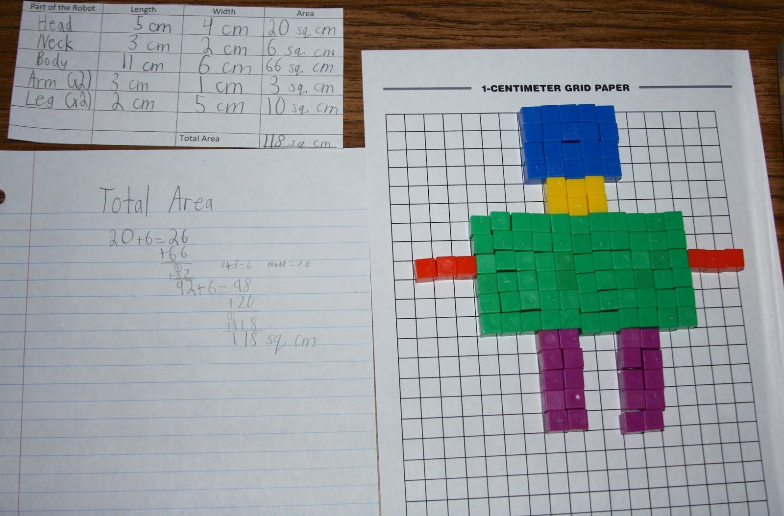 A Learning Journey R Is For Robot Area And Perimeter Art
