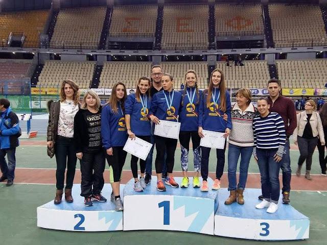 Αργυρό μετάλλιο για την ομάδα του ΣΔΥ Αργολίδας στα 4Χ400 γυναικών