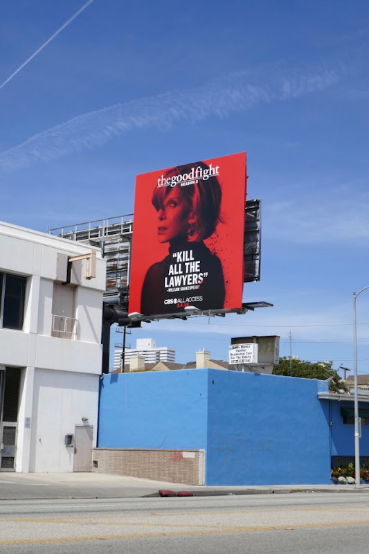 Good Fight season 2 Diane billboard
