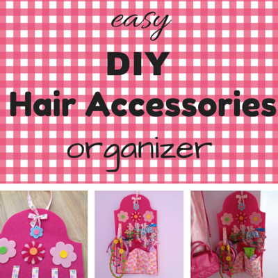 easy DIY hair accessories organizer