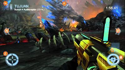 لعبة Dino Hunter كاملة للأندرويد، لعبة Dino Hunter مكركة، لعبة Dino Hunter مود فري شوبينغ