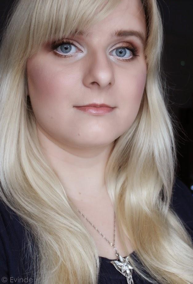 warm brown makeup look