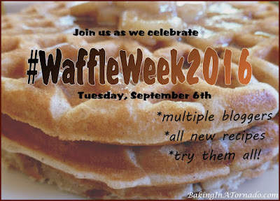 Waffle Week 2016: Multiple bloggers' unique waffle recipes. | www.BakingInATornado.com | #MyGraphics #WaffleWeek2016