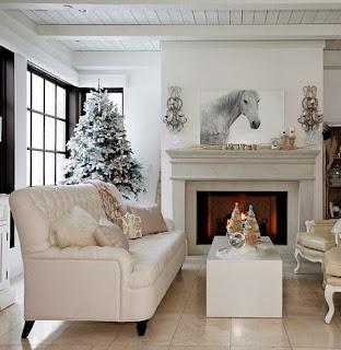 Decoración Navidad con blanco