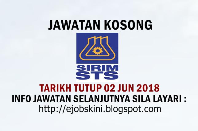 Jawatan Kosong Terkini di SIRIM STS Sdn Bhd
