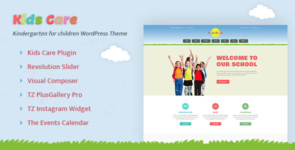 Kids Care – Kindergarten, Children WordPress Theme - Free Premium ...