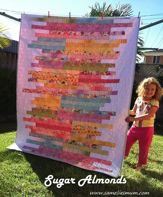 Sugar Almonds Quilt Free Tutorial Designed by Anorina of Samelia's Mum.