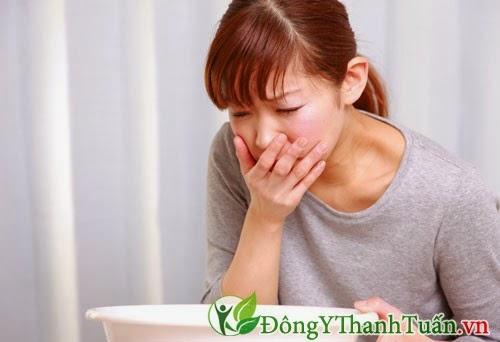 Nôn ra máu là triệu chứng của xuất huyết dạ dày