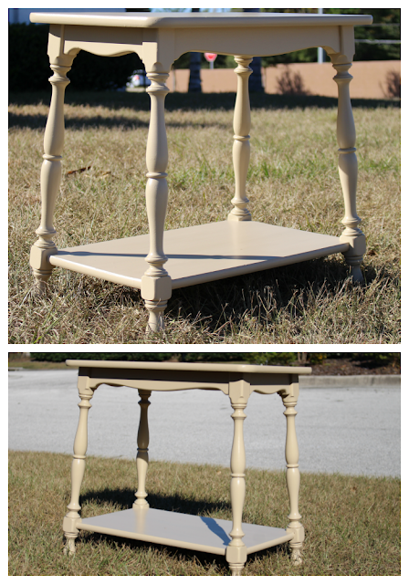 Vintage end table/ furniture painting