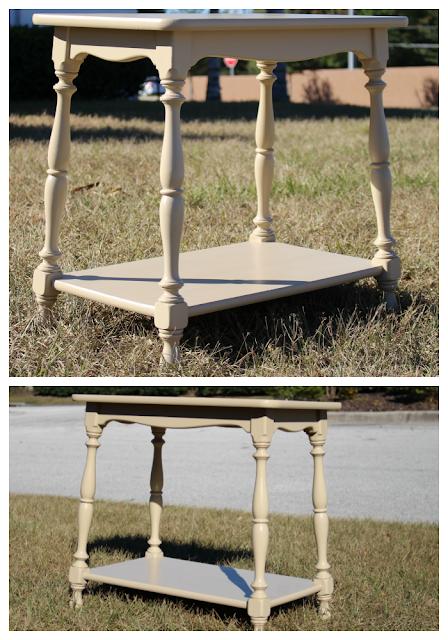 Vintage end table/ furniture painting