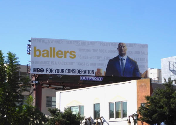 Ballers season 3 FYC billboard