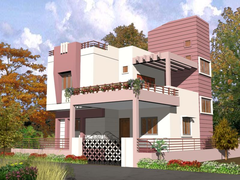Exterior paints for small house in india home painting for Exterior indian house paint