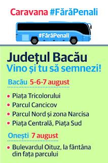 "Caravana ""Fara Penali in functii publice"" ajunge si la Bacau!"