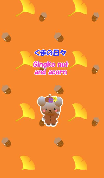 Bear daily(Gingko nut and acorn)