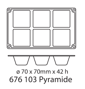 Forma Silicon, Tava Silicon- Model Piramida - Amenajari HoReCa