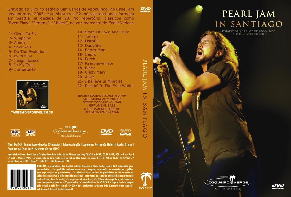 pearl jam in santiago dvd
