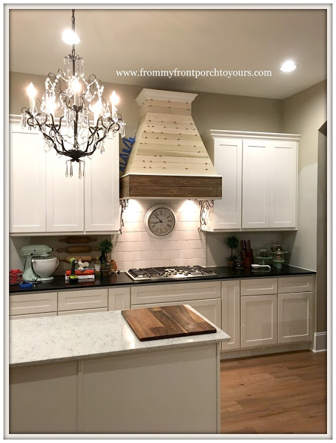 farmhouse kitchen DIY-range hood--from my front porch to yours