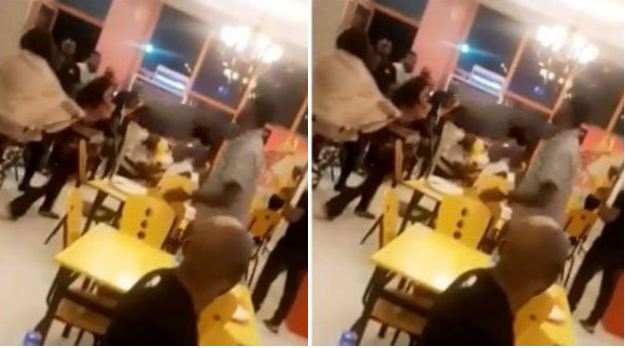 Half-naked girls fight dirty at Mega Chicken in Lagos over photos Naijaslog