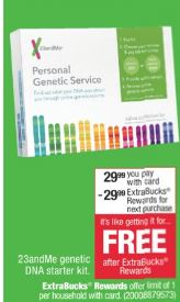 23andMe Personal Genetic Service Saliva Collection Kit $29.99