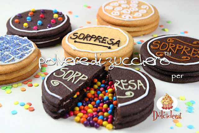 biscotti con sorpresa cake design cake art frolla pastafrolla cacao vaniglia zuccherini confetti