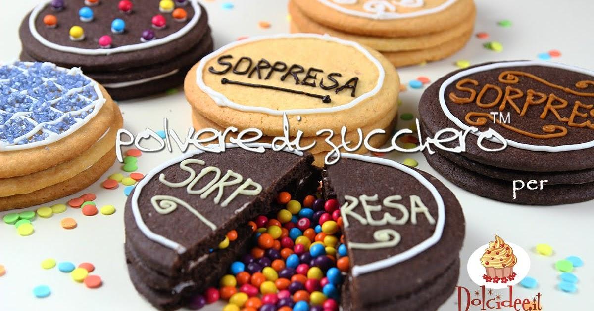 Biscotti Cake Design Ricette : Biscotti con sorpresa alla frolla bianca e al cacao ...