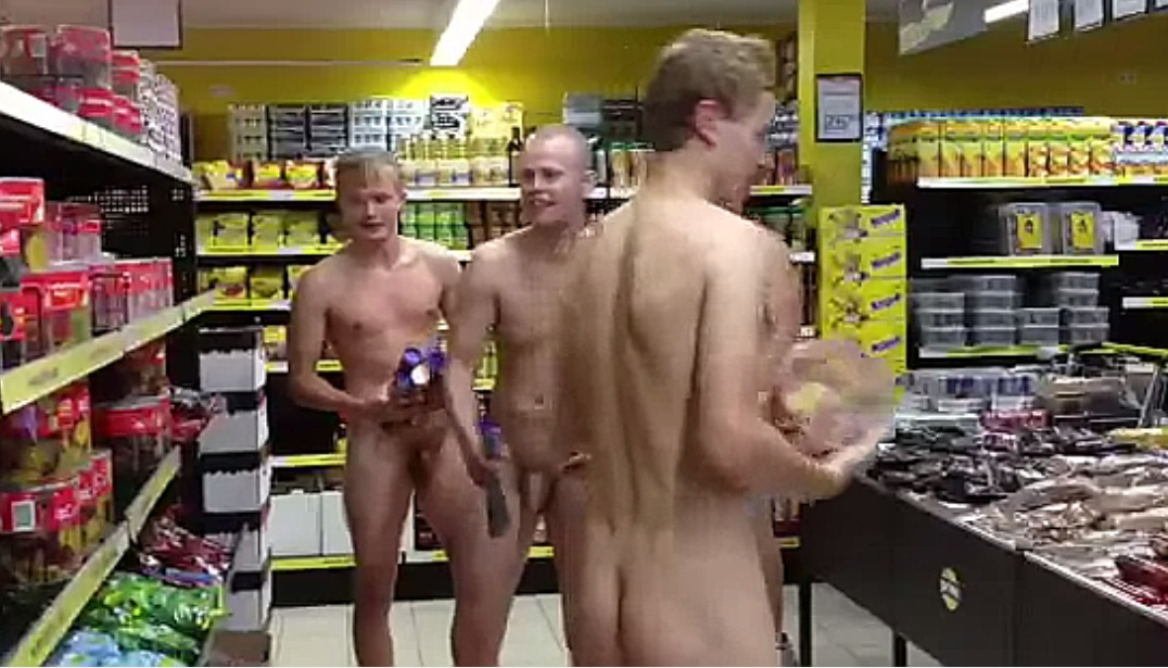 Asian naked shopping 3