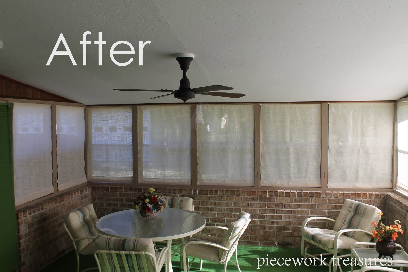 Lisa's Carolina | Handmade: Burlap Window Treatments