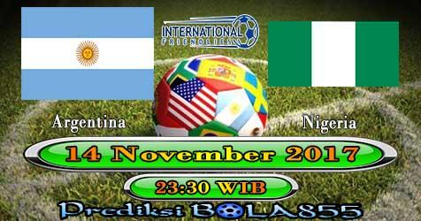 Prediksi Bola855 Argentina vs Nigeria 14 November 2017